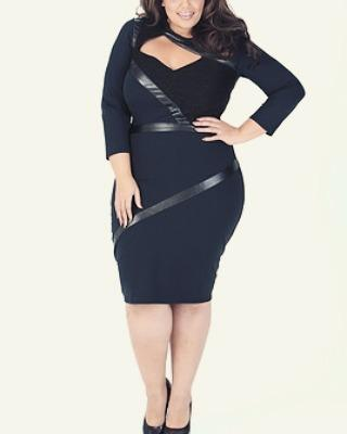 Little black dress, Plus-size clothing, Plus-size model