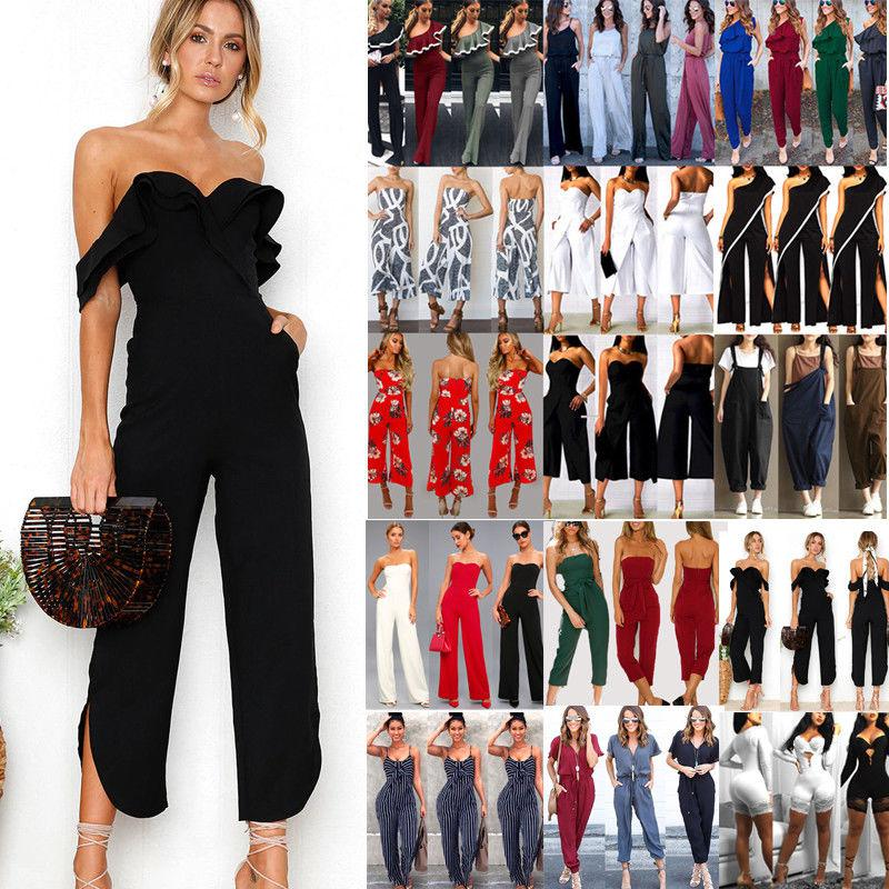 b1f01c211285 US Fashion Women Clubwear Summer Playsuit Bodycon Party Jumpsuit Romper  Trousers
