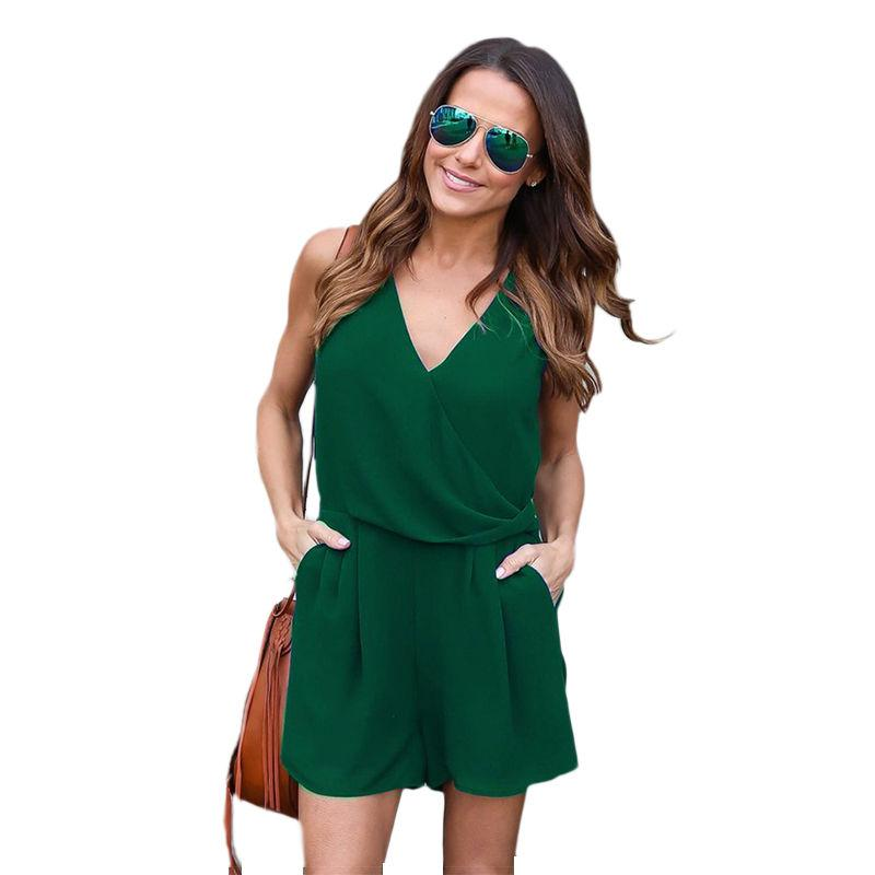 Women Mini Clubwear Playsuit Bodycon Party Jumpsuit Romper Shorts Dress Trousers
