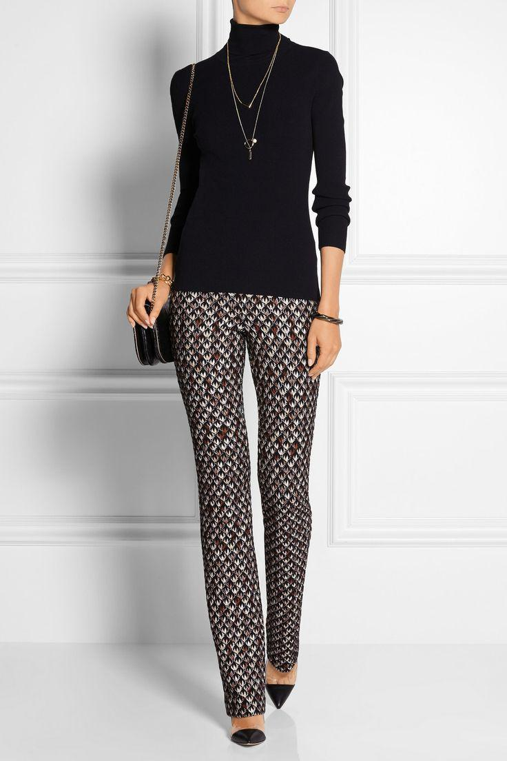 Printed Pants Outfits Ideas : Missoni   Patterned crochet-knit straight-leg pants   NET-A-PORTER.COM