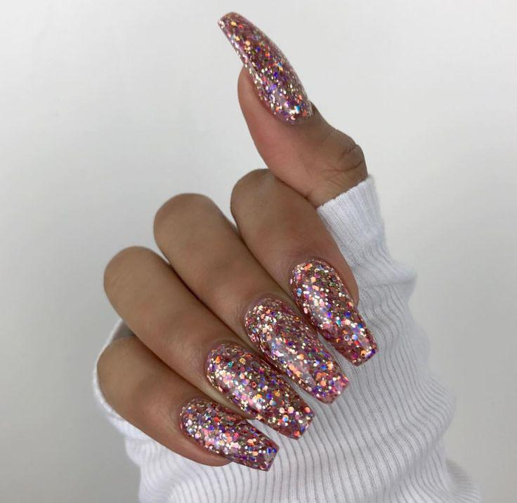 20 Best Glitter Nails Tumblr Images On Stylevore