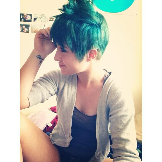 Best Short Pixie Cut Hairstyles 2018 : @sierra_meryhew thank you for sharing, cool color and lov ...