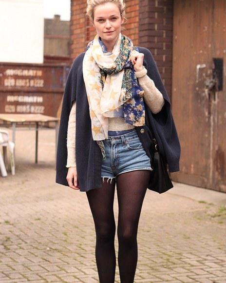 #jeans #shorts #with #tights  …