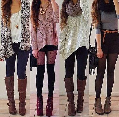 49ccc0b69670 Winter Fashion Outfits. Insanely Stylish Ways to Wear Leggings in  winterWinter clothing Casual wear