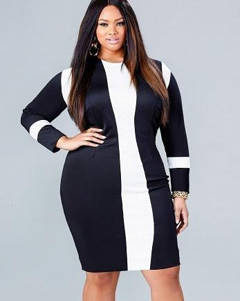 #blackandwhite #dress #plussize #modern…