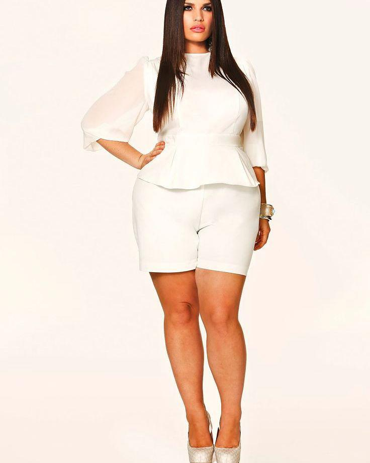Perfect Plus Size Dress In White To Impress You BF