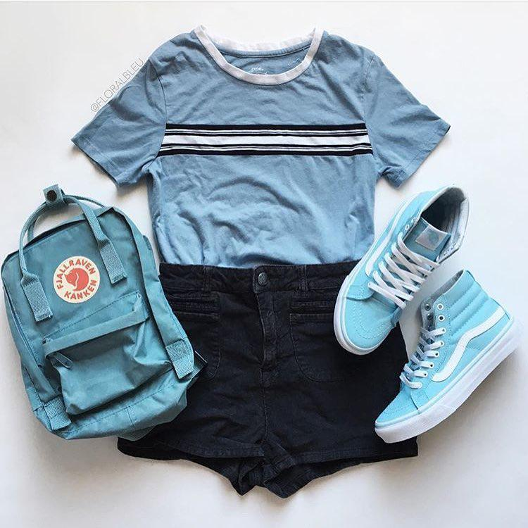 Shorts Outfit Ideas For School Girls