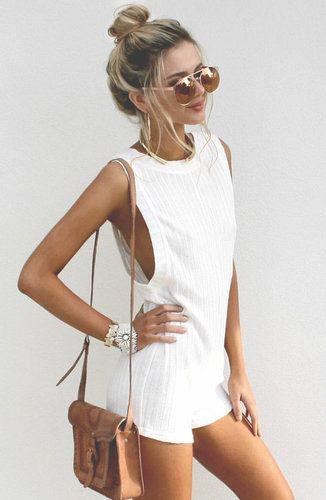 Cute Honeymoon Outfits Ideas: #summer #fashion / jumpsuit
