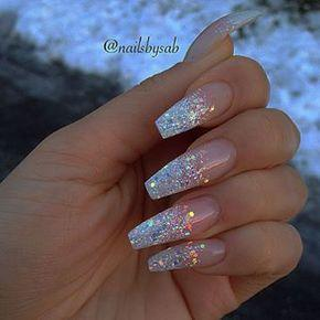 Cute waterfall long nail design…