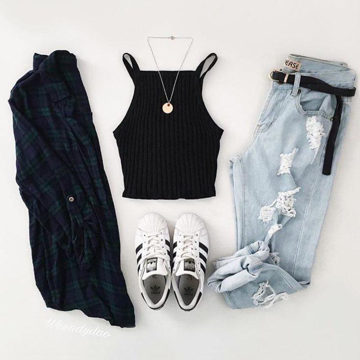 Shorts Outfit Grunge fashion, Clothes hanger