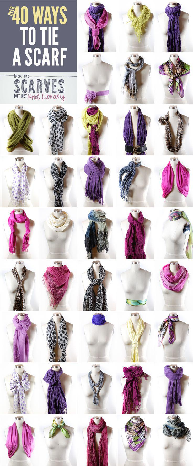 Outfits For Curvy Women : 50+ Ways to Tie a Scarf!
