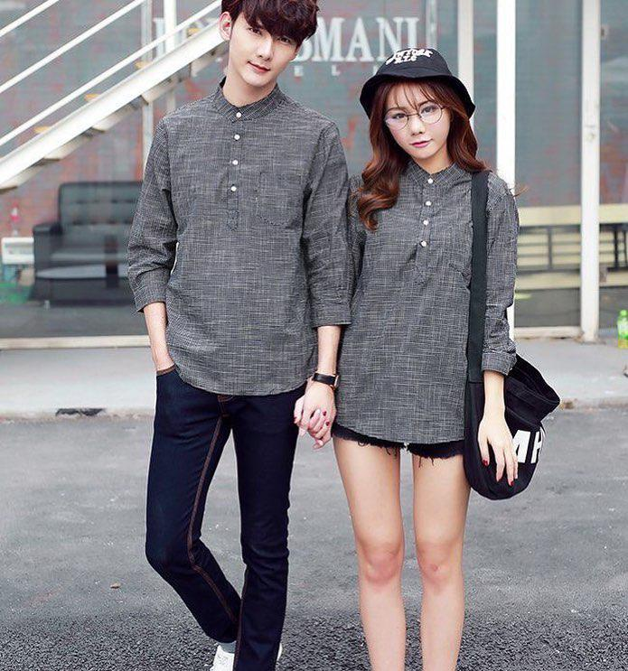 This matching outfit idea is not just simple and chic but also affordable for all couples to wea ...