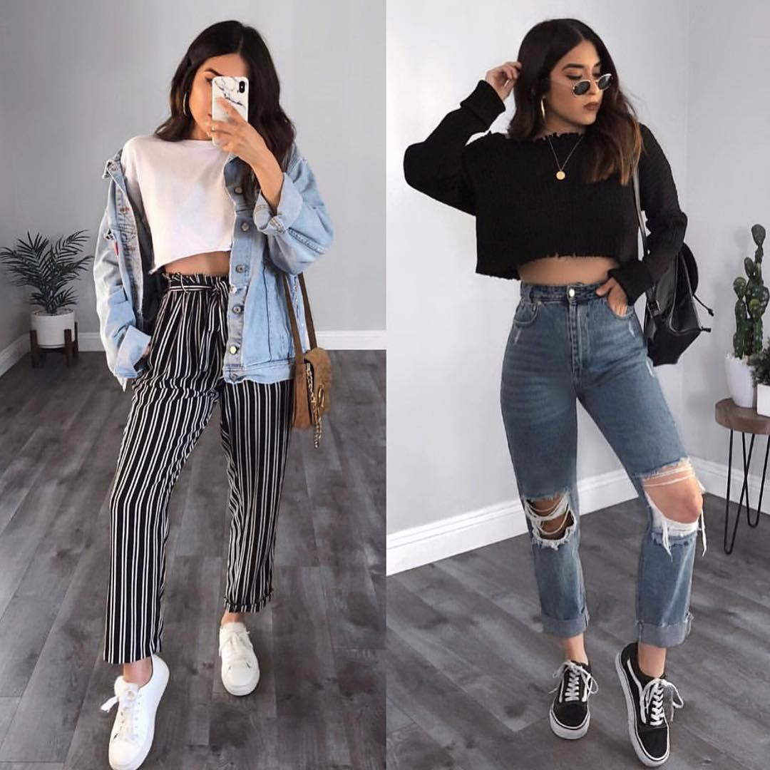 teens fashion outfits, Cute outfits Mom jeans, Casual wear ...