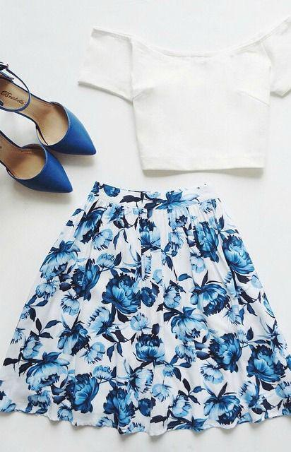 Wedding guest dresses for spring 2018 : Posy on Over Ivory Floral Print Skirt