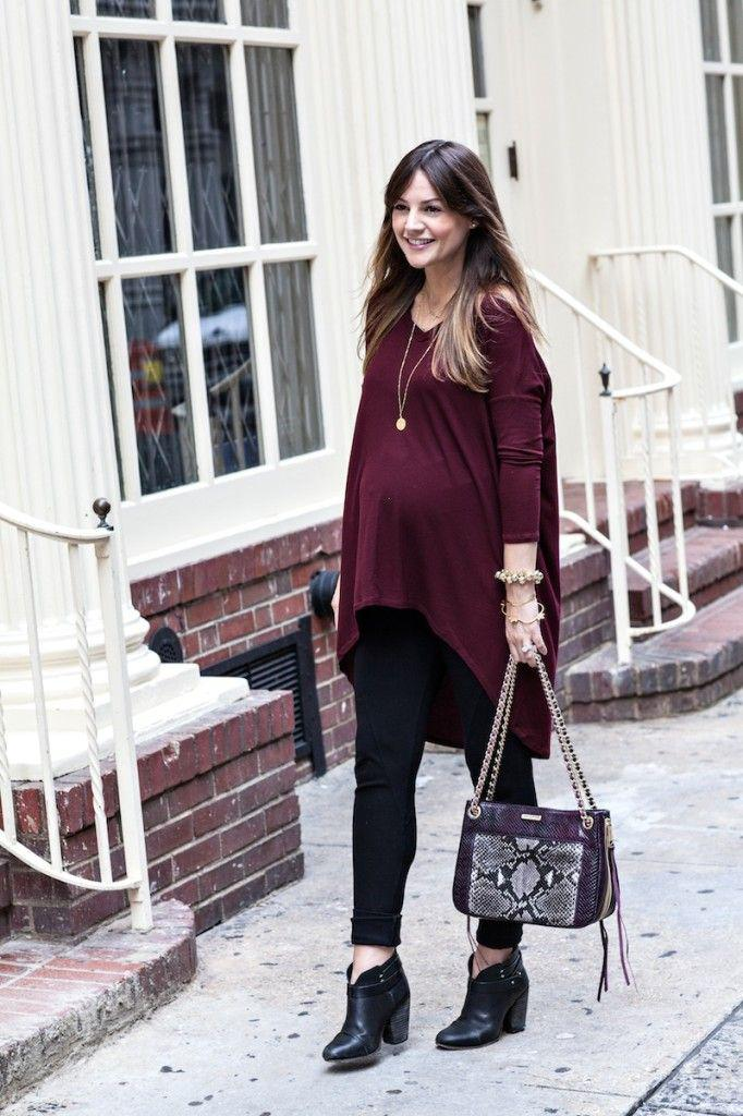 pregnancy outfits ideas fall baby bump style fashion blogger