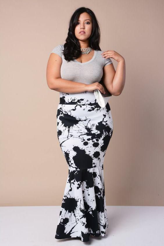 Outfits For Curvy Women : nice Flattering Plus Size Maxi Dresses ...