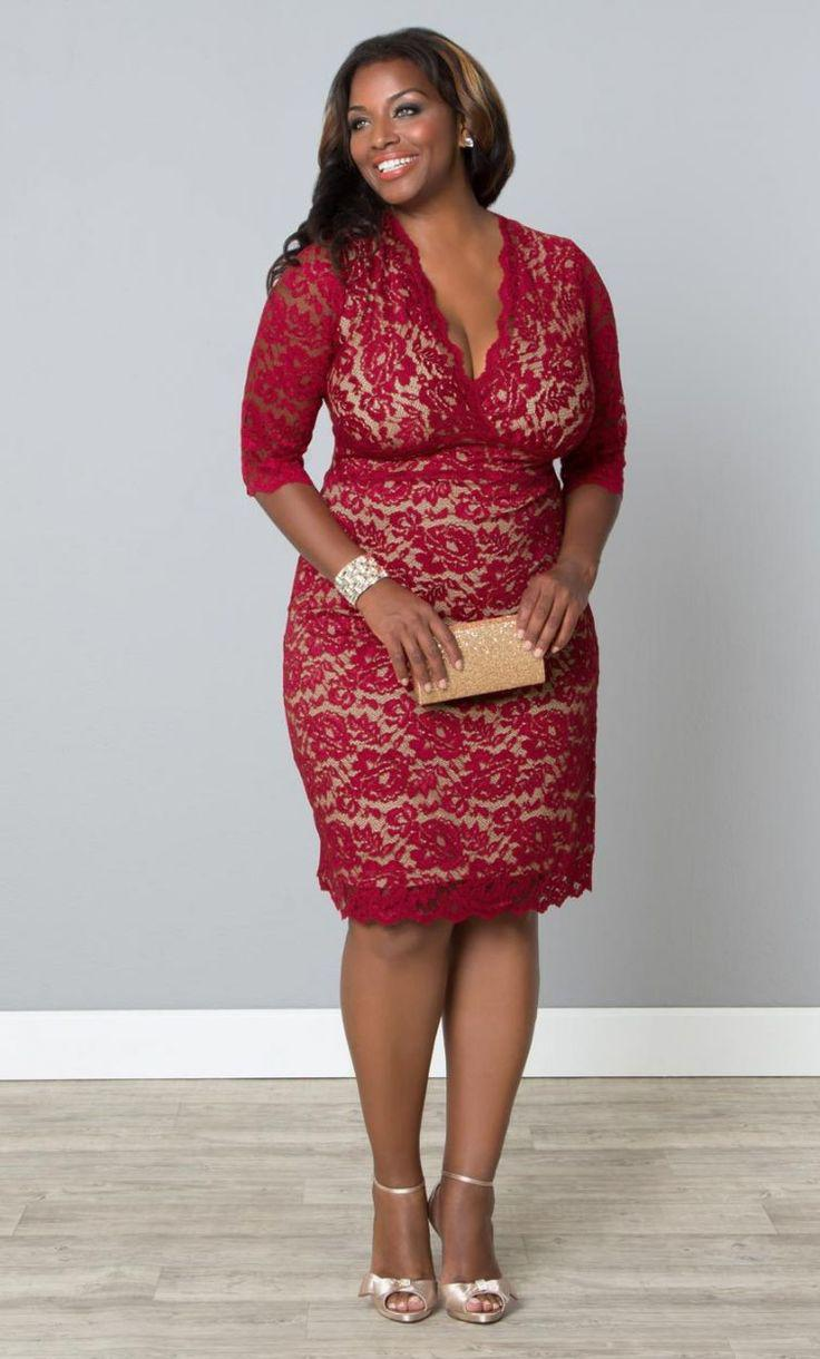 0052a4dbf1d Outfits For Curvy Women    plussize  red  dress  bbw  curvy ...
