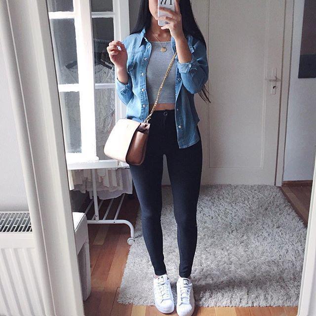 Black Jeans Outfit Ideas  Para um dia rilex de passeio e