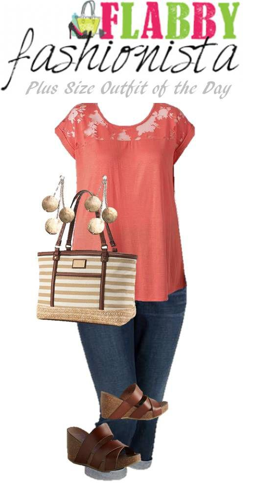 3d21b19eb5 Outfits for beautiful curvy women   Plus Size Outfit of the Day – Coral for  Summer
