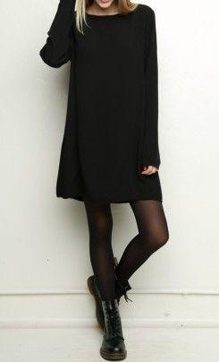 Outfits Ideas for Tall Girls: Get The Look! Long Sleeve Oversize Tunic Dress – WWW.SHOPPUB ...