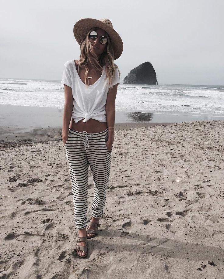 Beach Vacation Outfits : Cute beach outfit for cooler days