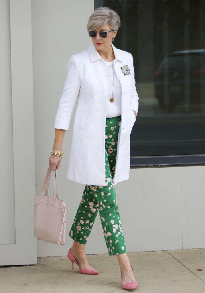 3021b0f824d How To Wear Printed Pants   boden white jacket