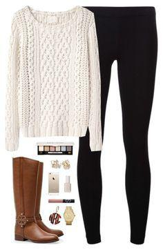 """Outfits for high school 2018: """"chunky knit"""" by classically-preppy ❤ liked on Polyvor ..."""