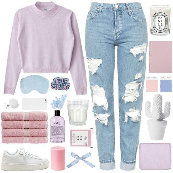 White sneakers and distressed skinny jeans are a must in order to maintain a trendy, casual scho ...