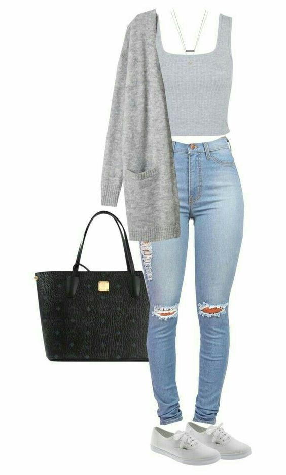 This Polyvore outfit is cool for any college girl