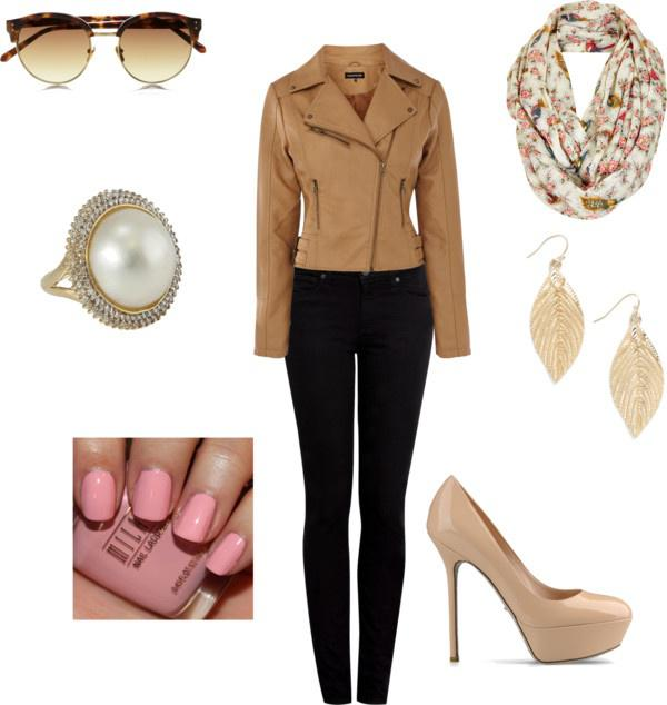 "Winter Outfit Ideas ""Nude Leather"" by meghan-e-m-keeler on Polyvore"