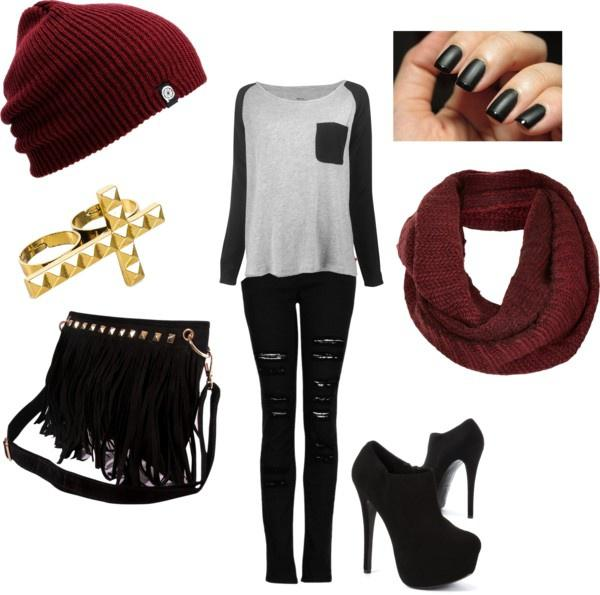 """Winter Outfit Ideas """"Burgundy"""" by meghan-e-m-keeler on Polyvore"""
