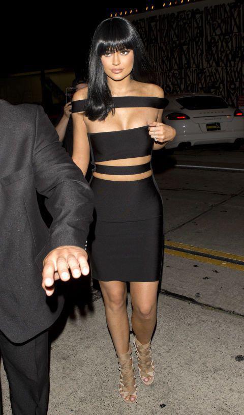 Kylie Jenner Outfits : Celebrity Styles Kylie Jenner Bandage Dress