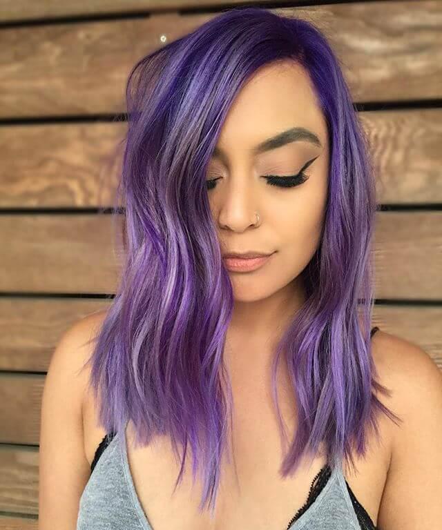 Medium Length Mermaid Hair In Purple On Stylevore