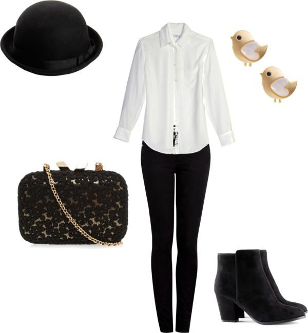 """Winter Outfit Ideas""""Black, White and Gold"""" by meghan-e-m-keeler on Polyvore"""