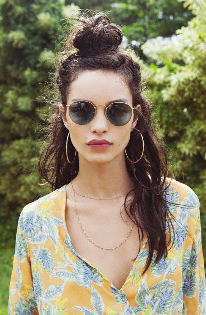 Hippie Style Top Bun On Stylevore
