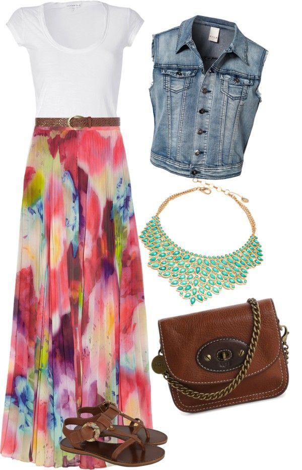 Colorful Maxi Skirt Easter Outfit For Both Girls & Women