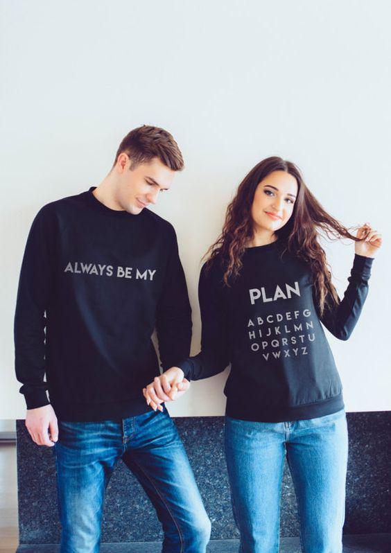 Couple matching sweatshirts is a stylish expression of yourself.