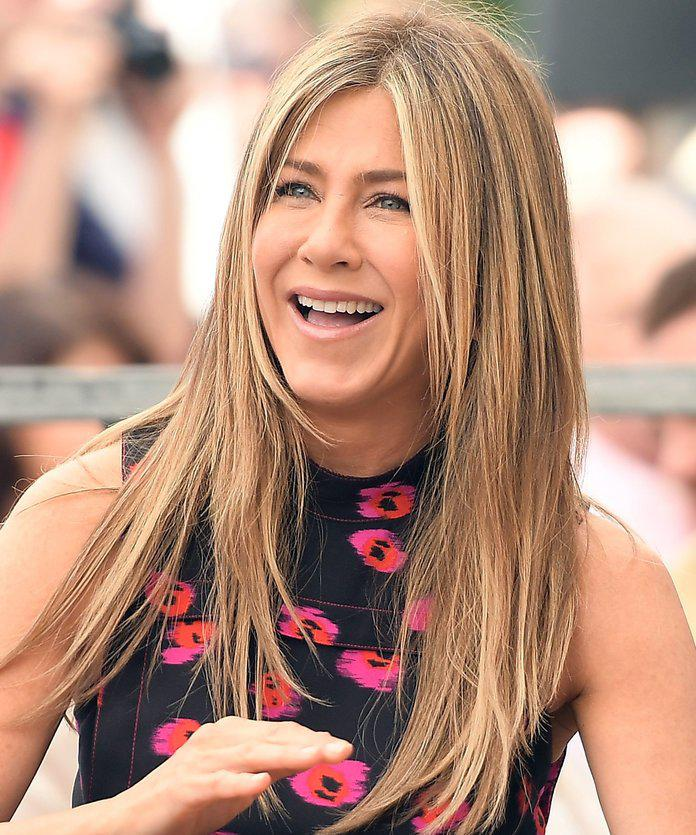 "From ""The Rachel"" to this long length, Aniston knows how to work a layered cut. Her  ..."
