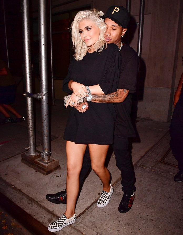 Kylie at night out in New York City with Tyga
