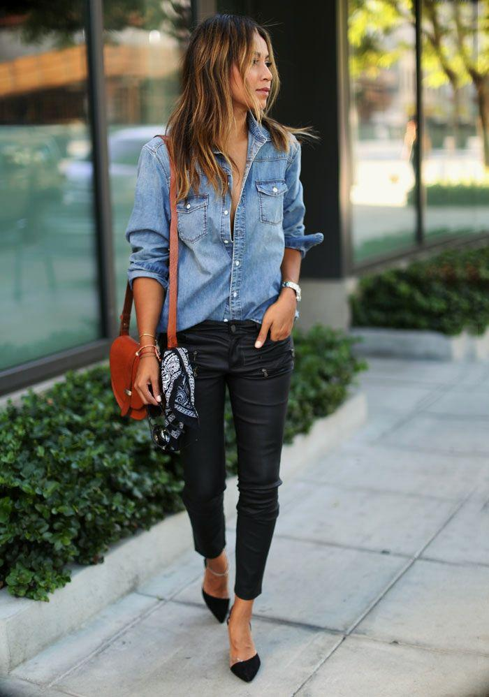 20ffd74cc8 Leather pants are good for house parties on stylevore jpg 700x998 Black  jeans for party