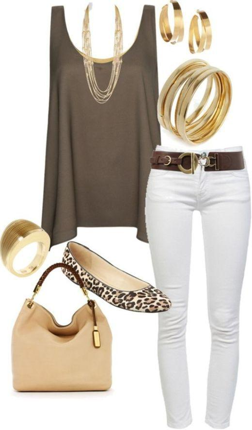 Love this white pant and shoe