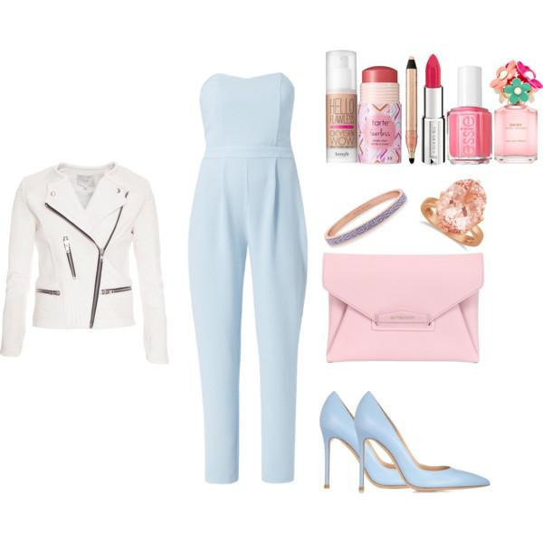 Wear a jumpsuit to dinner. It's fun and girly. Layer it with a leather jacket or blazer then com ...