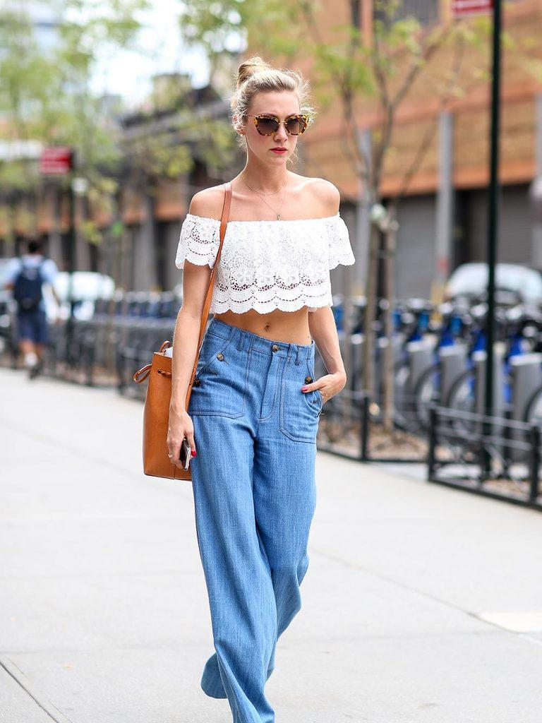 Off-Shoulder Tops with Jeans