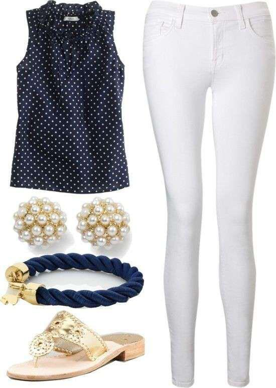 OUTFIT IDEAS FOR WOMAN – LOOK BLU E BIANCO