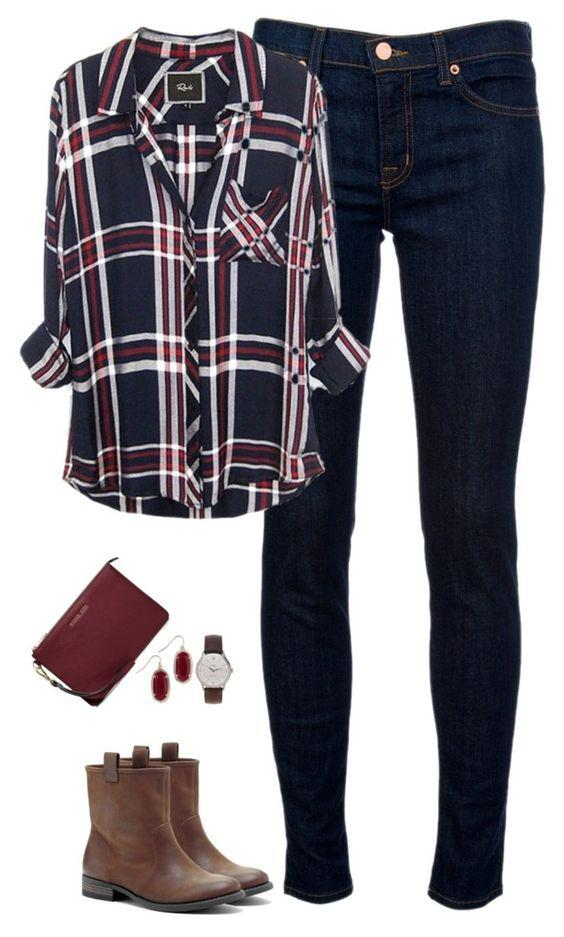 Flannel shirts are a classic for school outfits. Pair a traditional flannel like the one above w ...
