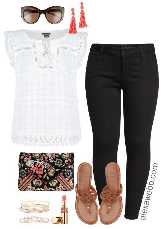 2edc7257ce3 Plus Size Black Jeans Summer Outfit For Work on Stylevore