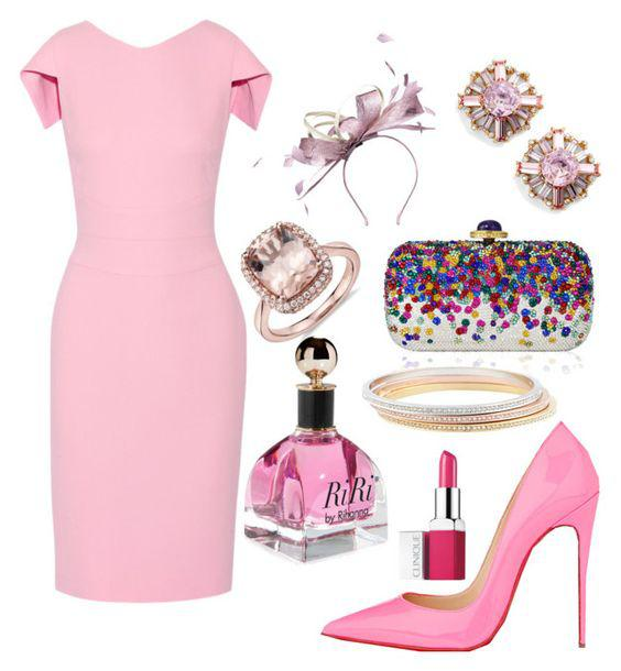 65ff7d85e1d679 Easter Outfit by Polyvore featuring Antonio Berardi, Christian Louboutin,  Judith Leiber, and Cli