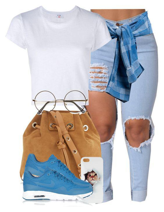 This outfit featuring Vanessa Bruno, NIKE and RE/DONE