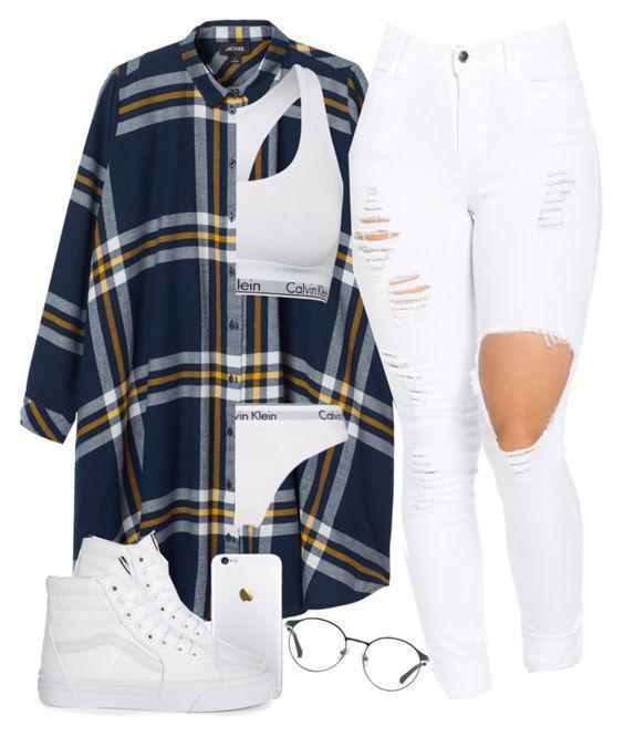 Outfit featuring Monki, Calvin Klein, Calvin Klein Underwear, 3.1 Phillip Lim and Vans