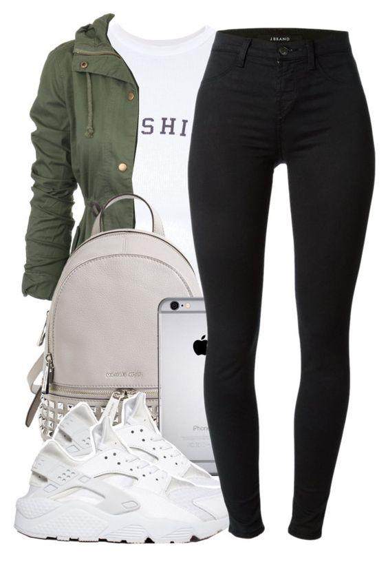 This outfit featuring Wildfox, MICHAEL Michael Kors, NIKE and J Brand